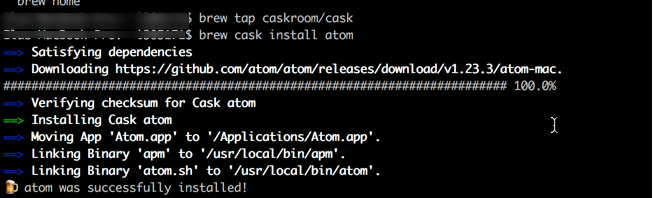 Atom Home Brew Install Guide Mac